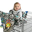 Kiddlets Baby Shopping Cart & High Chair Cover, Includes Carry Bag, Machine Washable