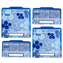 Russbe Lunch Systems, Reusable Snack and Sandwich Bags, Blueberry Blue Linen