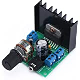 DROK® DC 9-18V TDA7297F Stereo Amplifier Audio Amplifier 15W+15W Dual Channel LED Indicator Heatsink Potentiometer Screw