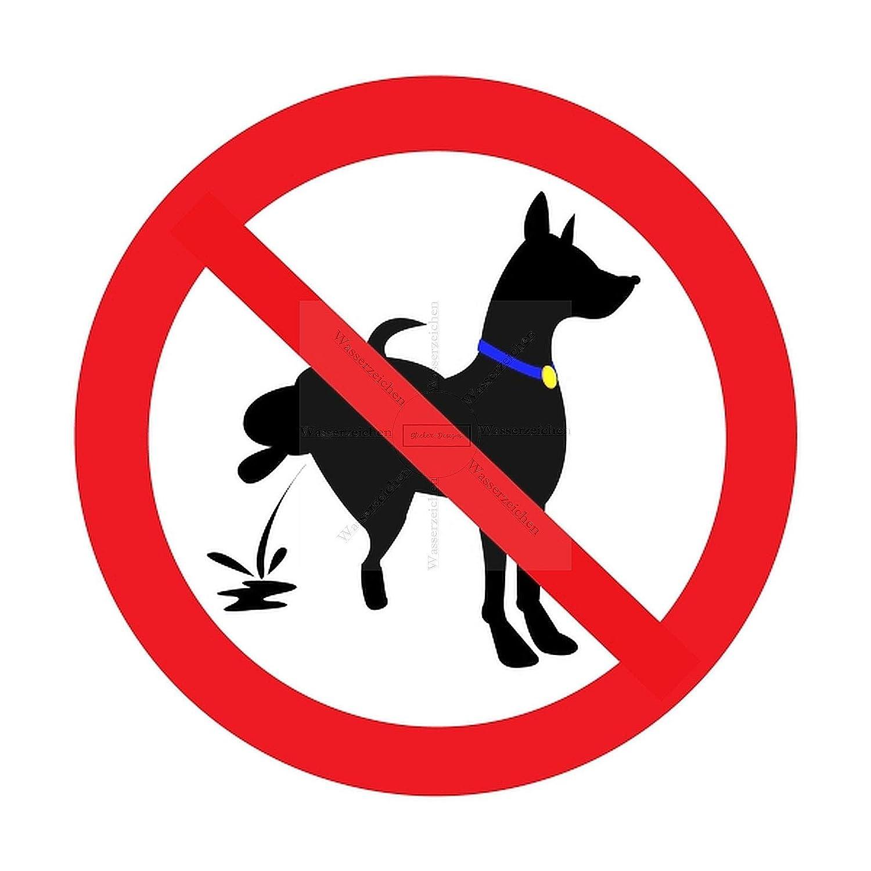 Sticker-Designs 10cm!4St/ück!Aufkleber-Folie Wetterfest Made IN Germany Hunde pinkeln verboten S149 Jahre haltbar UV/&Waschanlagenfest Vinyl-Sticker Profi Qualit/ät