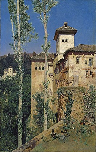 Oil Painting 'Rico Y Ortega Martin The Ladies Tower At The Alhambra 1871', 16 x 25 inch / 41 x 64 cm, on High Definition HD canvas prints, gifts for Home Theater, Kids Room And Study Room (Premium Sunrise Futon)