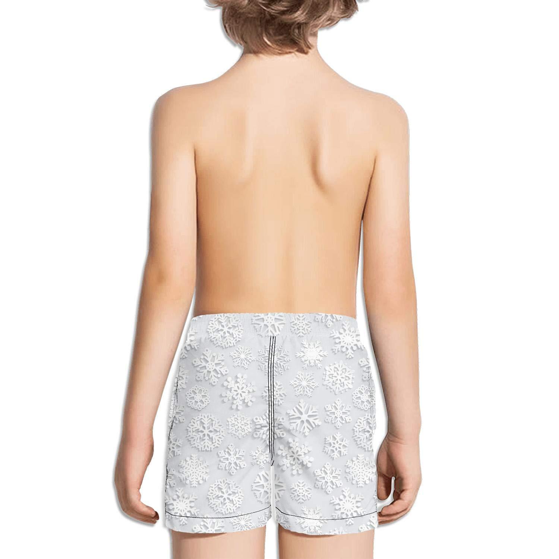 Voslin Kids Unisex Pink dab Pig Christmas Beach Swim Trunks Quick Drying Drawstring Shorts