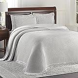 LaMont Home Woven Jacquard King Bedspread, Gray/White