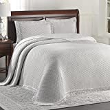 Lamont Limited Home Bedspread, King, Grey/White,Woven Jacquard