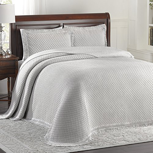 Lamont Limited Home Bedspread, King, Grey/White,Woven Jacquard by LaMont Limited