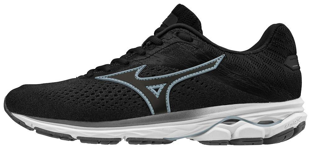 Mizuno Women's Wave Rider 23 Running Shoe, Dark Shadow, 6 B US by Mizuno