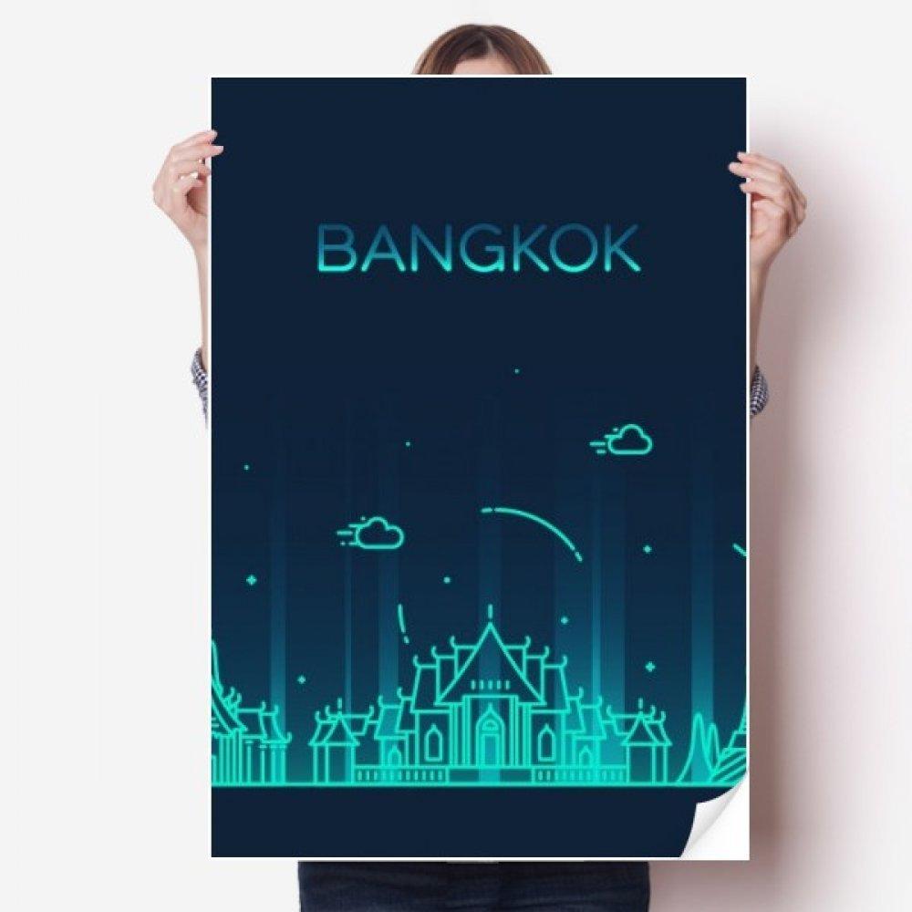 Amazon com diythinker thai customs culture shadow bangkok vinyl wall sticker poster mural wallpaper room decal 80x55cm home kitchen