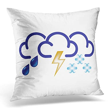 Fundas Throw Pillow Atmósfera Nubes con Gotas de Lluvia Rayo ...
