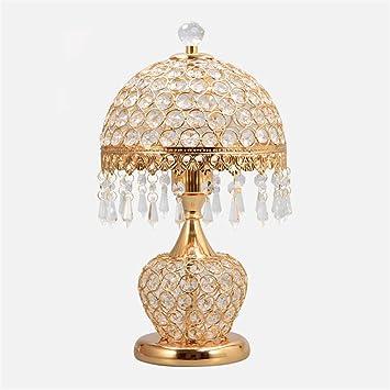Amazon Com Table Lamp Creative Romantic Crystal Table Lamp Bedside