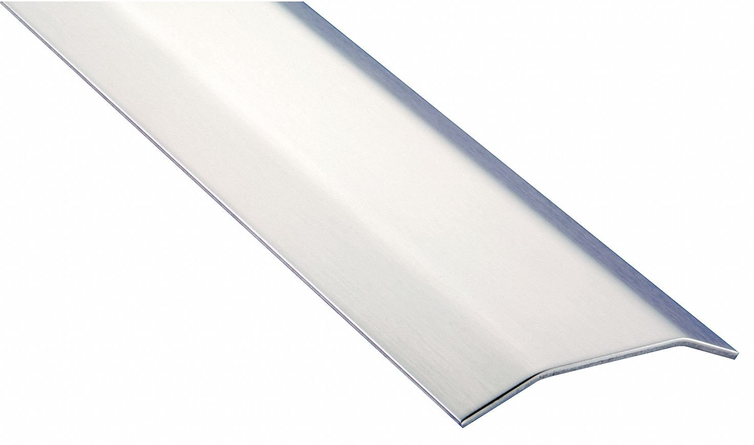 8 ft. x 4'' x 1/2'' Smooth Top Saddle Threshold, Silver