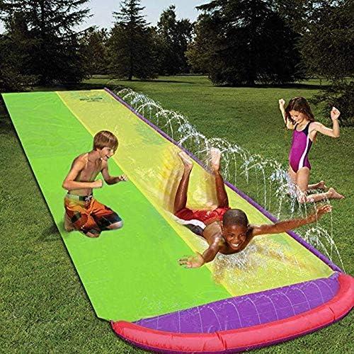 Destinely Tobogán acuático, Deportes acuáticos, tobogán Deslizante Doble, Diapositiva estupenda para el jardín, 480 140cm: Amazon.es: Hogar