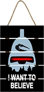 lsawdas Believe in Toasters Battlestar Galactica Wooden Signs, Printed Wooden Tags,Wooden Christmas Signs,Wall Hanging Sign, Home Decor, Outdoor Decorations 12 x 8 inches