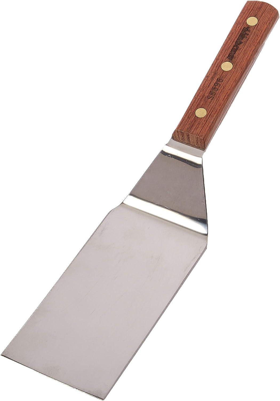 "Dexter Russell S8696 Wood Handle 6 x 3"" Offset Hamburger Turner"
