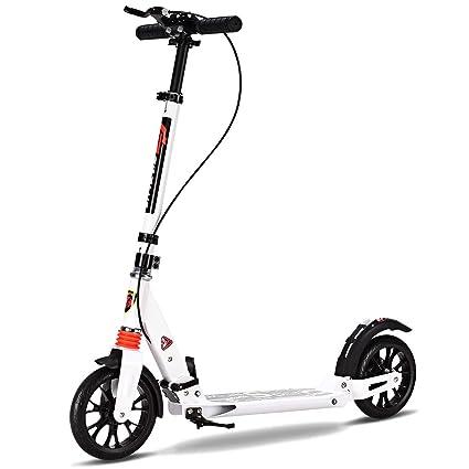 vengaconmigo Patinete Plegable Monopatín con Manillar Scooter con 2 Ruedas 3 Altura Regulable Freno de Mano para Adulto Adolescente Carga Máx. 100 kg ...