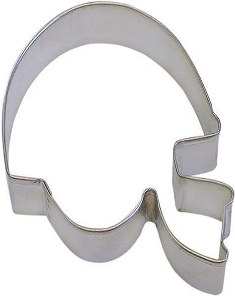 3.5 Football Cookie Cutter Tin Plated Steel Fondant Sports Metal Steel