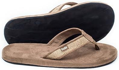 ea8229f1ef3de Indosole Men s Tan Burlap Sandals