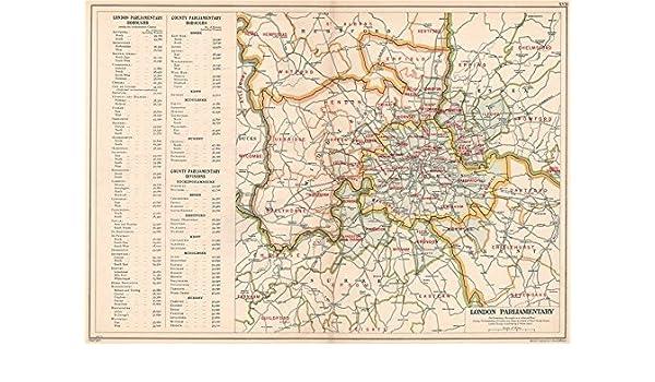 Amazon Com Greater London Parliamentary Constituencies Boroughs
