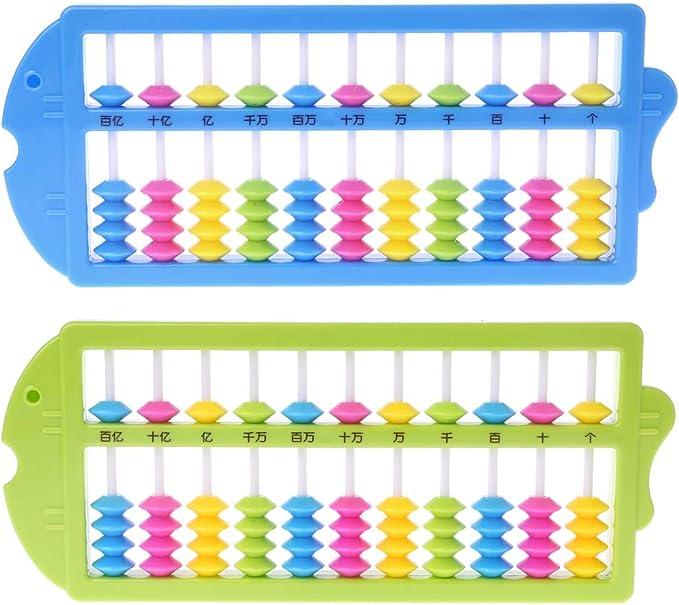 S-TROUBLE Portable Chinois 13 Chiffres Colonne Abacus arithm/étique Soroban calcul comptage Outil dapprentissage des math/ématiques /école Bureau Utilisation