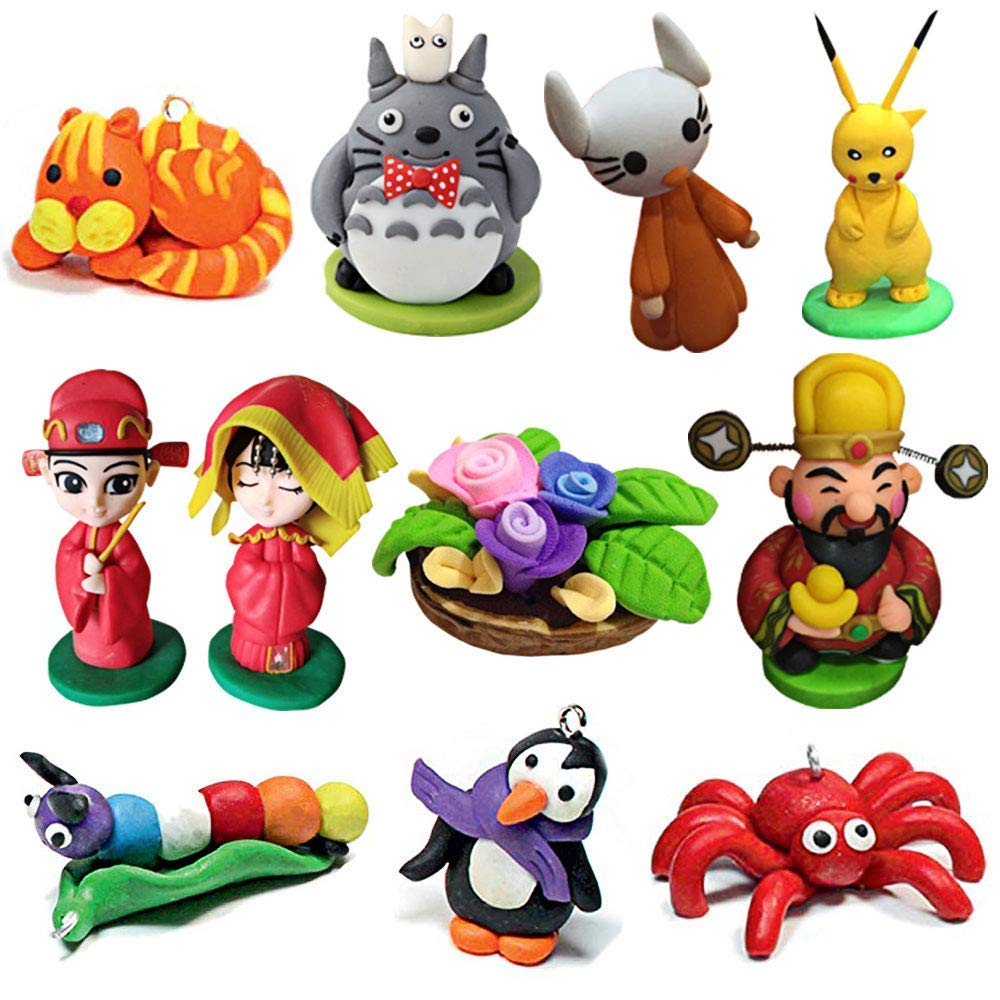 CiaraQ Polymer Clay, Oven Bake Model Clay DIY Air Dry Clay Soft Molding  Craft Clay Set Best Gift for Kids (24 color 350g)