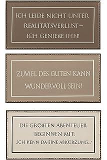 Amazon De Ls Design Retro Metallschild Dekoschild Lustige Spruche