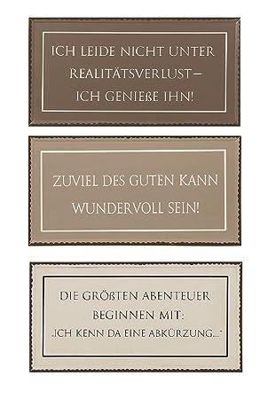 Amazon De 3er Set Metall Wandbilder 40x20 Cm Schilder Lustige