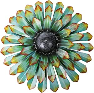 Scwhousi Large Metal Green Flower Wall Decor,13