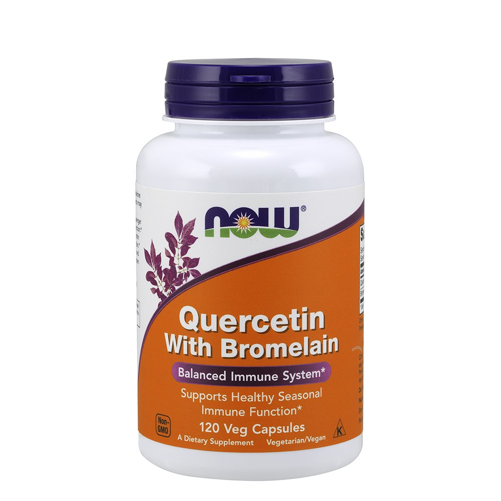 NOW Quercetin with Bromelain,120 Veg Capsules