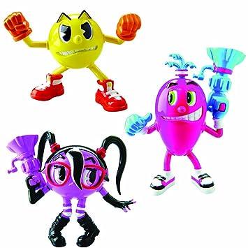Pac Man - Figuras Tripack Aventura: PacMan 3, Cylindria, Spiral (Bandai 38976)