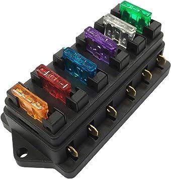 Caja de fusibles de 6 vías Caja de fusibles del bloque del ...