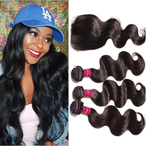 Unice Hair Closure Brazilian Bundles product image