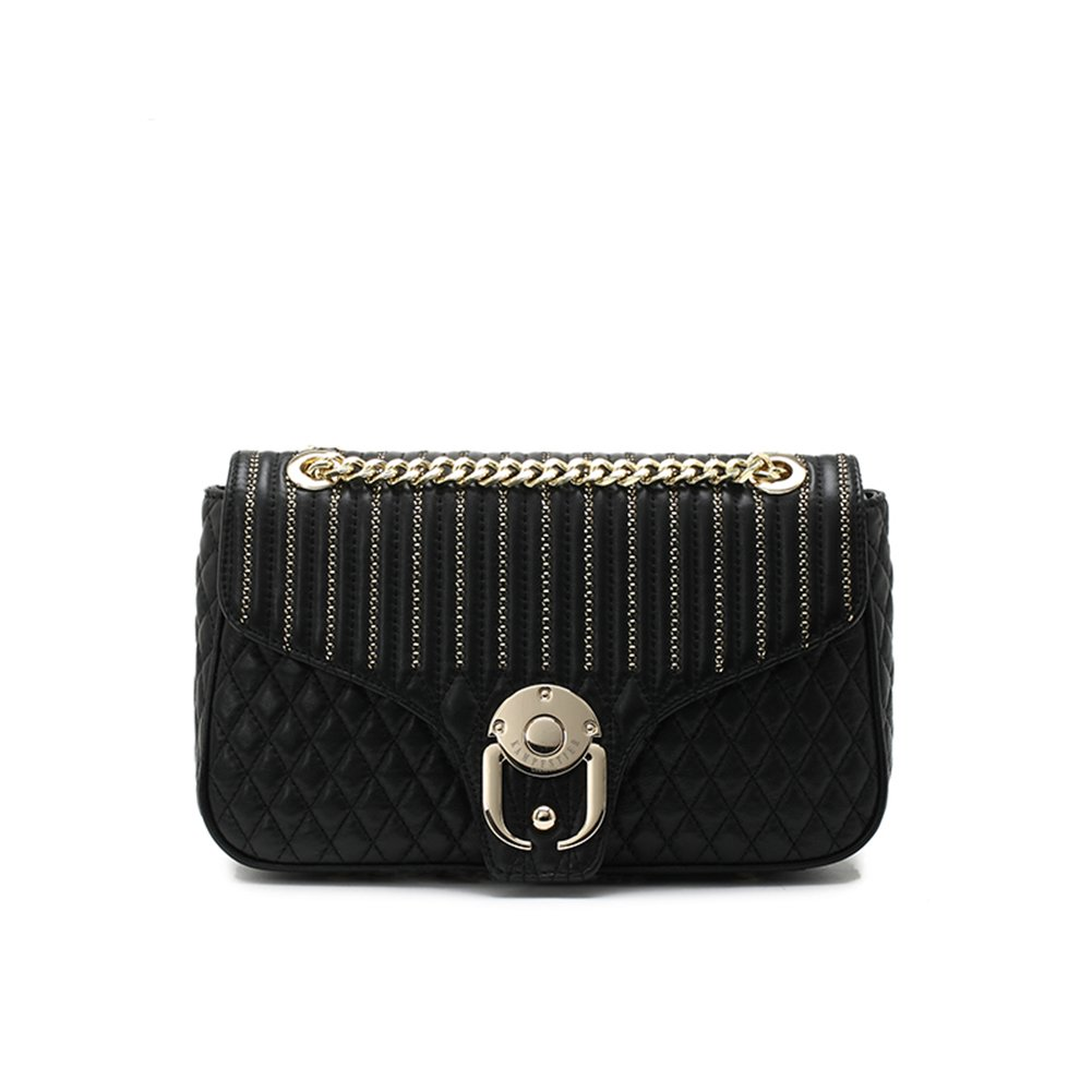 Kampfstier Germany Wheat shaped Sheepskin Crossbody Handbag Black