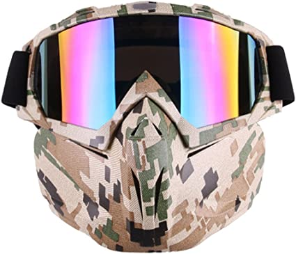Tactical Military Face Protective Mask Goggles Shield Eye Paintball Green New