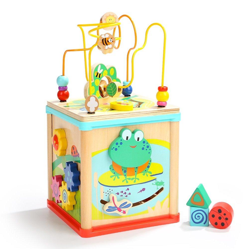 激安人気新品 ビーズ迷路おもちゃ、子供の木製ローラーコースター、ビーズ、初期教育、学習玩具、 B07GN64F27, ファブリック ロッソ:839eaddf --- svecha37.ru