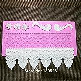 Large Baking Gum Psate Sugarcraft Flower Border Moulds Silicone Mat Fondant Decorating Tool Cake Lace Mold