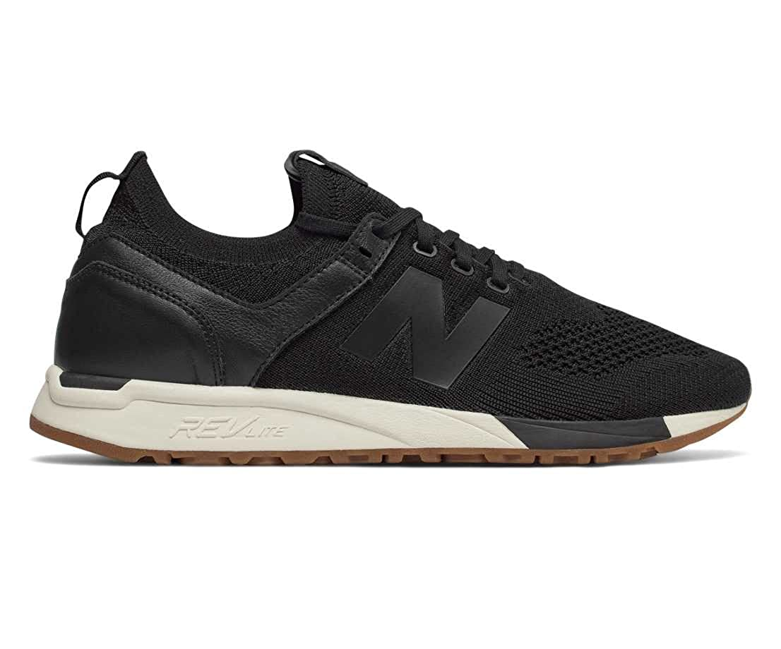 Black White New Balance Men's 247v1 Trainers