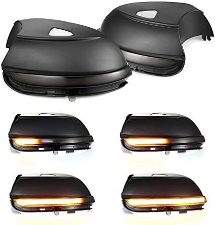 Lente din/ámica de espejo intermitente LED para Passat B7 Scirocco MK3 CC EOS Escarabajo