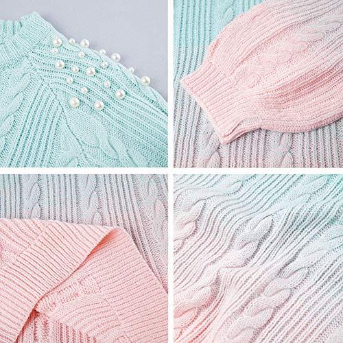 Grandi Wodeninek E Europeo Americano Maglione Stile Maglia Tintura Le In Perle Pullover A Graduale Donne Per Lavorato Dimensioni 8rwz870q