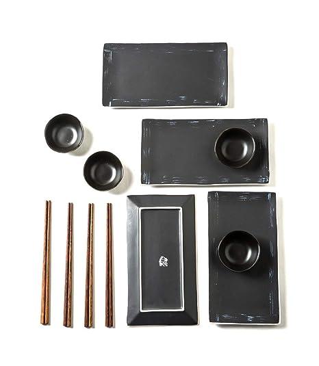 Amazon.com: Pangu - Juego de platos de cocina japoneses (12 ...