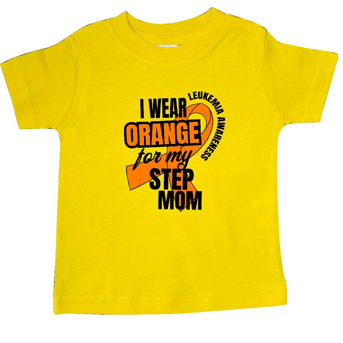 inktastic I Wear Orange for My Step Mom Leukemia Awareness Baby T-Shirt