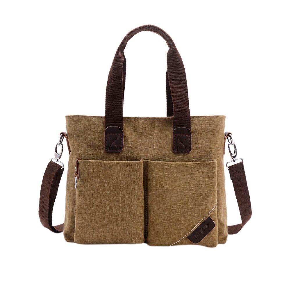 ThinkMax Men Canvas Crossbody Bag Vintage Top Handle Satchel Handbag Male Messenger Shoulder Bags