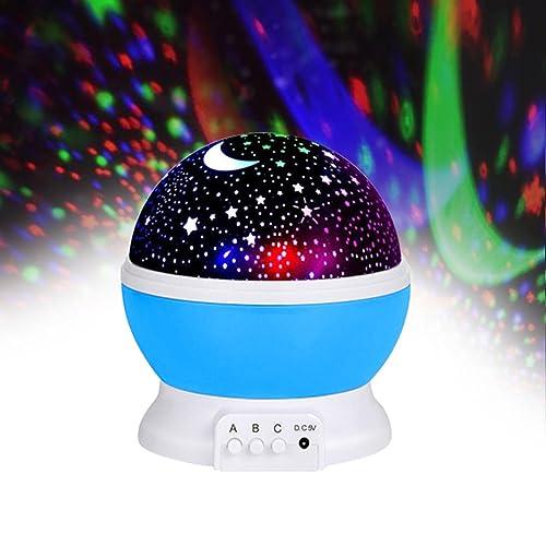 Jayden78 Toys For 4 5 Year Old Boys Night Light Rotating Moon Stars Projector