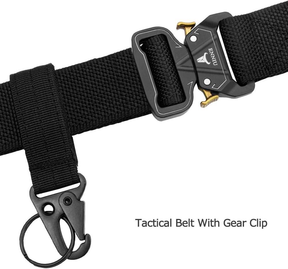 APERIL Cintur/ón T/áctico Militar Ajustable Cintura Hombres Lona Nylon Hebilla de Metal para Entrenamiento de Caza Ej/ército Que se Ejecuta