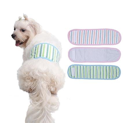 taonmeisutm pañales pañales de perro mascota macho vientre banda Wrap fisiológicos Pantalones rayas lavable y reutilizable
