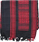 Black & Red Military Shemagh Arab Tactical Desert