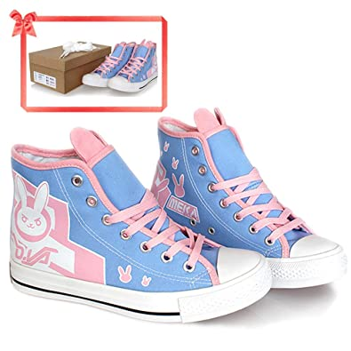 wholesale dealer cd670 f89ac DVA Shoes Canvas Blue Flats Cosplay Costume Grils Accessories Womens 37