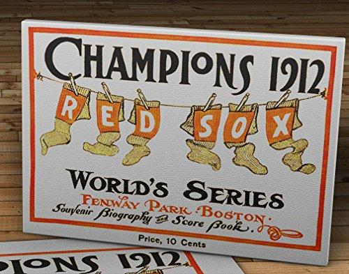 1912 Vintage Boston Red Sox World Series Scorecard - Canvas Gallery Wrap - 18 x 12