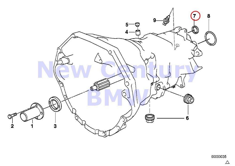BMW Genuine S6S420G Housing+Attaching Parts Shaft Seal 15X21X6.5 540i M5 M3 Z8