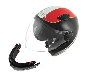 Casco Moto doble Abe Jet y integral con Calotta de fibra de vidrio y doble visera