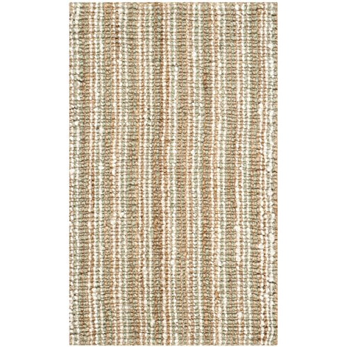 Safavieh Natural Fiber Collection NF447S Hand Woven Sage and Natural Jute Area Rug (2'6