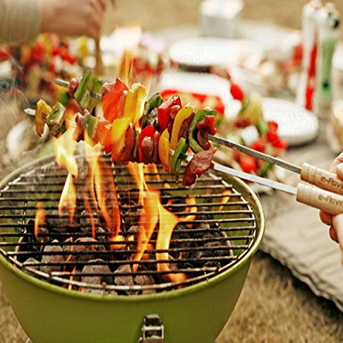 Amazon.com : Bazaar Outdoor Portable BBQ Grill Round Charcoal Oven Barbecue Picnic Stove : Sports & Outdoors